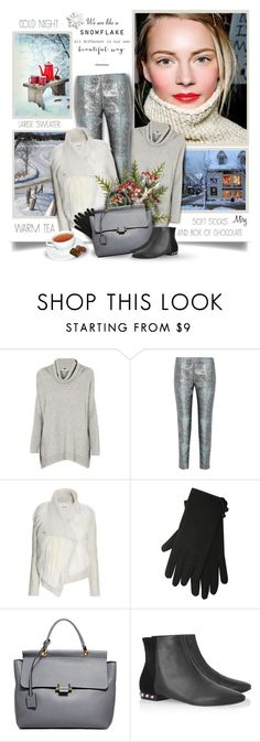"""""""We Are Like A Snowflake All Different In Our Own Beautiful Way"""" by thewondersoffashion ❤ liked on Polyvore featuring Cocoa Cashmere, Antonio Berardi, Helmut Lang, M&Co, Lanvin, Balenciaga, AntonioBerardi, helmut and winteroutfit"""