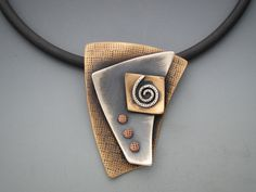Bronze Sterling Silver Sculptural Triangle Pendant - B Nelson Designs Store Like & Repin. Noelito Flow. Noel Music.                                                                                                                                                      Mais