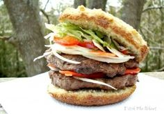 Hamburger Buns (Low Carb & Gluten Free) - Replace raw honey with your favorite sugar free sweetener.