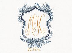 Custom watercolor wedding crest hand painted family by LanaDreams