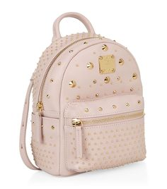 MCM Studded Bebe Boo Backpack | Harrods