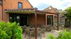 One of our retractable canopies installed at The Chesterfields Pub in Chester.