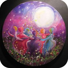 Sacred circle of protection under the full moon.