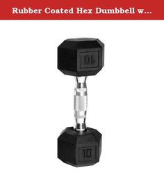 Rubber Coated Hex Dumbbell with Contoured Chrome Handle [Set of 2] Weight: 10 lbs. SDR-010 Weight: 10 lbs Features: -Hex shaped dumbbells with rubber coated heads and chromed contoured handles. -Black color. -This product contains one or more chemicals known to the State of California to cause cancer, birth defects or other reproductive harm. Product Type: -Dumbbells. Quantity: -Single. Weight Range: -< 5 Lbs./5-30 Lbs./31-60 Lbs./60+ Lbs.. Material: -Rubber. Dimensions: -Holding…