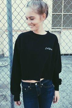 Brandy ♥ Melville | Nancy California Embroidery Sweatshirt - Graphics