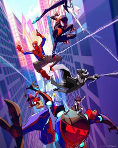Spider-Man into the spider verse awesome wallpaper : spiderman