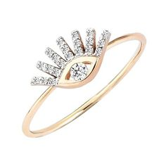 Kismet by Milka 'Protect Me' Precious Stone Evil Eye Ring (10.633.700 IDR) ❤ liked on Polyvore featuring jewelry, rings, rose gold, 14k stackable rings, precious stones jewelry, 14 karat gold ring, precious stone rings and evil eye ring