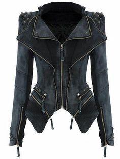 JK24 Celeb Style Motorcycle Biker Studded Fitted Padded Shoulder Denim Jacket | eBay