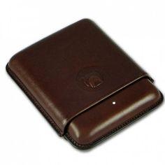 #Dunhill Bulldog #Cigar Case - 4 Robusto Brown