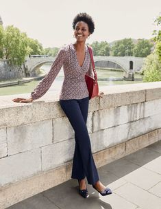For Monday mornings you look forward to, browse our range of women's workwear at Boden. Shop confidence-boosting skirts, flattering tops and stylish heels. Boden Uk, Latest Fashion Dresses, Navy Women, Black Women, Flare Pants, Elegant, Spring Summer Fashion, Black Tops, Work Wear