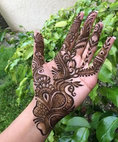 Feeling Fresh In Nature Henna by lovely _ Peacock Mehndi Designs, Modern Henna Designs, Full Mehndi Designs, Indian Mehndi Designs, Mehndi Design Pictures, Bridal Henna Designs, Mehndi Designs For Girls, Tattoo Designs, Mehndi Images