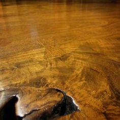 Detail of Teak Table 96x43x31 $8900