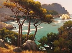 Coastal Cypress, Pt Lobos by Brian Blood Oil ~ 30 x 40