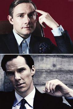 Martin Freeman and Benedict Cumberbatch.  Love them both.--> para mi siempre seran el Benito y el Juano xDD