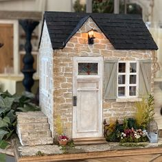 Porch, Shed, Miniatures, Outdoor Structures, Patio, House Styles, Garden, Flowers, Home Decor