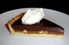 Chocolate Bourbon Truffle-Turtle Tart