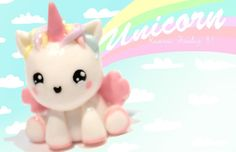 ◕‿◕Unicorn! Kawaii Friday 81 - Tutorial in Polymer clay!