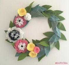 DIY tuto Une couronne de fleurs pour fêter le printemps