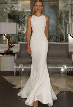 Silk Crepe Crew-Neck Dress   Romona Kaveza Collection Fall 2015   blog.theknot.com