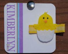 Handmade Felt Baby Chick Hair Clip - Easter