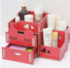 Sleeping beauty DIY cosmetic storage box with two drawers $0~$3.62