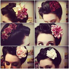 #hairflower #retro #vintage #dollydahlia www.etsy.com/shop/dollydahlia