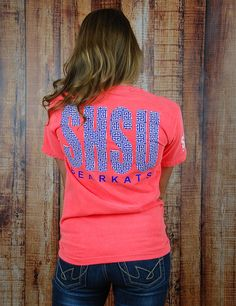 Stand out in that big huge crowd with this awesome NEON Sam Houston State University t-shirt! Seriously, people will be asking where you got this shirt... it's too amazing!