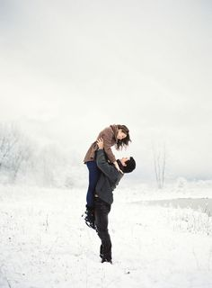 Snowy engagement session by Bryce Covey.