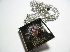 WoW Horde sigil pendant on ball chain unisex by ReturnersHideout, $12.50