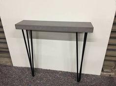Mesa consola moderna Industrial concreto en gris fresco / /