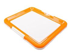 Dog Toilet, FATPET Plastic Dog Training Tray Portable Pad Holder (orange) * Check out this great product.