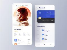 Cinema Ticket App by Omer Erdogan on Dribbble Ui Design Mobile, App Ui Design, User Interface Design, Web Design, Cinema Ticket, Track Workout, Movie Tickets, Action Film, Screen Design