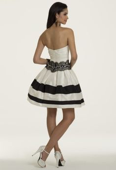 Short Shirred Color Block Prom Dress from Camille La Vie and Group USA