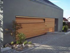 Wooden modern garage door
