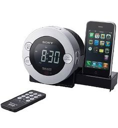Sony ICF-7iP Dock Clock Radio works great with CoolStream Duo Bluetooth Adapter: http://coolstreamrocks.com/product-catalog/