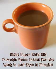 pumpkin spice lattes for the week diy