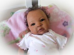 african american reborn baby dolls | Reborn Baby Doll Human Hair Sweet Baby Girl Shyann by Aleina Peterson ...
