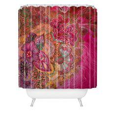 Stephanie Corfee Flourish Berry Shower Curtain   DENY Designs Home Accessories  #DENYWISHLIST