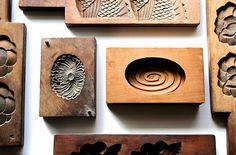 Zenbu Home Assorted Antique Kashigata wooden wagashi sweets moulds Japanese traditional design buy Japanese Tea Cups, How To Make Tea, Tea Ceremony, Wabi Sabi, Handmade Wooden, Traditional Design, Art Forms, Sculpture Art, Lotus