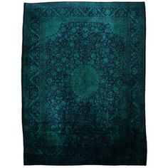 Gorgeous overdyed Persian Rug 388x307 Aqua,  now featured on Fab.