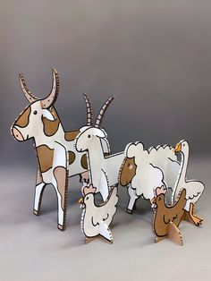 Art For Kids, Crafts For Kids, Arts And Crafts, Forest Animals, Farm Animals, Cardboard Animals, Paper Art, Paper Crafts, Cartoon Wallpaper Iphone