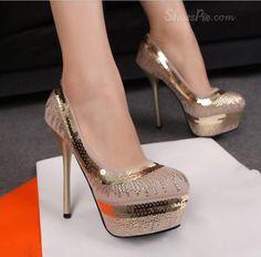 Sexy Cloth Upper Stiletto Heels Platform Prom/Evening Pumps