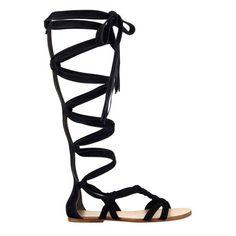 Sigerson Morrison Boni Gladiator Sandal ($315) ❤ liked on Polyvore featuring shoes, sandals, black suede, greek sandals, black sandals, t strap sandals, leather sandals and black t strap sandals