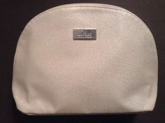 "NWOT ""DIOR"" Logo Makeup Travel Bag Cosmetic Case with Zipper  Color WHITE  