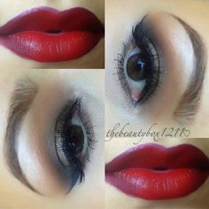 Glamorous Smokey with Red Lip  @thebeautybox1211