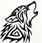 tribal art - wolf