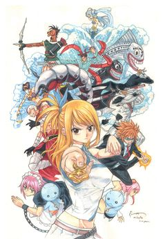 Lucy Heartfilia and her Celestial Spirits.