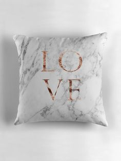 Rose gold marble LOVE by peggieprints