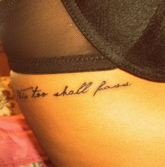 """Love this script...and quote """"this too shall pass"""""""