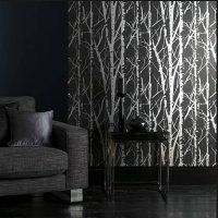 Woodland Collection ~ Aspen Wallpaper in Graphite